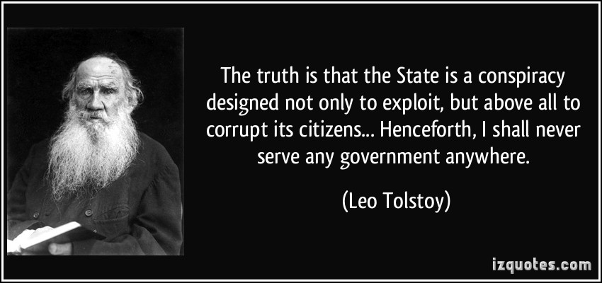 tolstoy on conspiracy